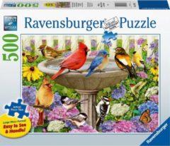 Ravensburger puzzel Bij het vogelbadje - Legpuzzel - 500 stukjes