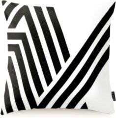 Gek op Kussens! Black & White Retro Kussenhoes | Katoen/Flanel | 45 x 45 cm | Zwart/Wit