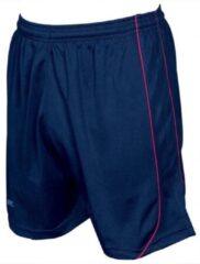 Marineblauwe Precision Voetbalbroek Mestalla Unisex Polyester Navy/rood Maat M/l