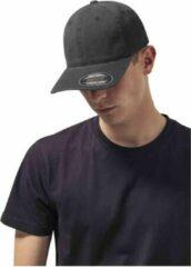 Zwarte Yupoong Flexfit garment washed cotton dad hat (6997) Black L/XL