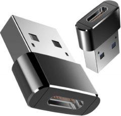 DrPhone C2 Pro - Metalen USB-C naar USB Male Adapter – Converter voor o.a. Macbook Mini (Type-C) naar USB A Mannelijk (Type-A) – Zwart