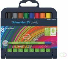 Bruna Fineliner Schneider Link-it 0.4mm 8stuks assorti