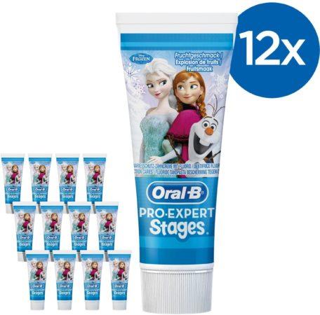 Afbeelding van Oral-B Oral B Pro-Expert Stages Frozen - Voordeelverpakking 12x75ml - Tandpasta voor kinderen - Kindertandpasta