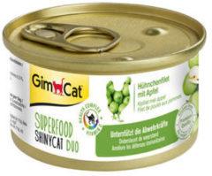 Gimcat Superfood Shinycat Duo 70 g - Kattenvoer - 24 x Kipfilet&Appel