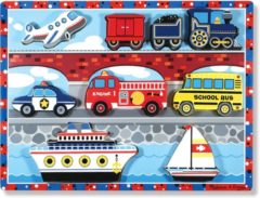 Melissa & Doug Vehicles Chunky puzzel 9 delig