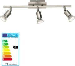 Reality RealityTrio Deckenleuchte Deckenlampe Balkenleuchte nickel matt inkl. LED Leuchtmittel