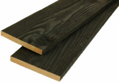 Woodvision Potdekselplank Douglas   22 x 200   Zwart geïmpregneerd   400 cm