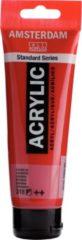 Royal Talens Amsterdam Standard acrylverf tube 120ml - 318 - Karmijn - halfdekkend