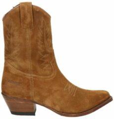 Sendra dames cowboylaars - Cognac - Maat 40