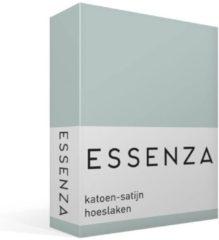 Groene Essenza Satin - Hoeslaken - Eenpersoons - 90x210 cm - Dusty Green