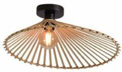 Bruine GOOD&MOJO Good & Mojo Plafondlamp - BROMO - Bamboe - Product Met gloeilamp: Nee / Product Grootte: Medium (50 x 12cm)