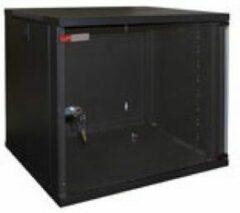 WP Rack WPN-RWA-06606-B Wandbehuizing - Glasdeur - 9 U -540x445x600mm (BxHxD) - Zwart