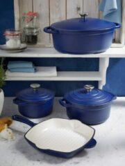 Gietijzeren braadpan Blue Magic GSW blauw/crèmewit