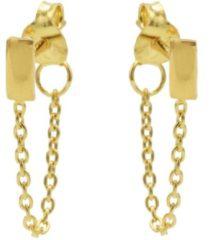 Karma Jewelry Karma Oorbellen Chain Rectangle Goud