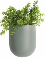 Present Time Woonaccessoires Wall plant pot Oval ceramic matt Groen