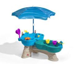 Paarse Step2 Watertafel Spill & Splash Seaway - Incl. 11-delige accessoireset en Parasol