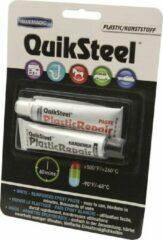 Quiksteel 17502, 2-componenten Kunststof / Epoxy voor alle kunststoffen en metalen, zeer sterk reparatie product