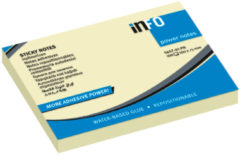 Powernotes info notes 100x75mm geel blok a 100 vel.