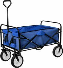 TecTake - Bolderkar bolderwagen transportkar opvouwbaar 402595 blauw