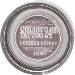 Paarse Maybelline Color Tattoo Leather 97 Vintage Plum oogschaduw Violet Shimmer