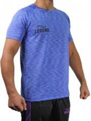 Legend Sports Dryfit Sportshirt Melange Blauw Maat M