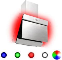 Zilveren VidaXL Afzuigkap RGB-LED 60 cm roestvrij staal en gehard glas