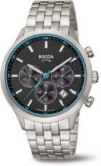 Boccia 3750-04 Horloge chronograaf titanium zilverkleurig 40 mm