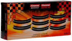 Zwarte Stadlbauer Carrera GO!!! Loopings - 8 Stuks - Racebaanonderdeel
