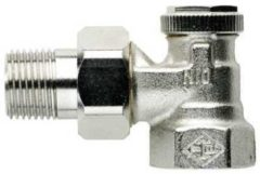 Heimeier radiator vt vent Regutec, nikkel, ho 47mm, uitvoering staartstuk/binnendraad