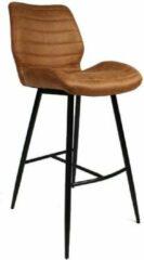 Livin24 Industriële barkruk Morris - Cognac - Zithoogte:71 cm
