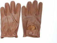 Swift retro racing mesh leren, auto handschoenen | mannen / vrouwen |nappa bruin | maat XS