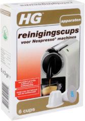 Grijze HG Nespresso® reinigingscups - 6 cups - voor een langere levensduur van de machine