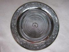 ZoeZo Design Dinerbord, set van 2, gekleurd glas: zilver. Rond 25,5 cm