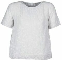Witte T-shirt Korte Mouw Manoush COTONNADE SMOCKEE