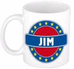 Shoppartners Namen mok / beker - Jim - 300 ml keramiek - cadeaubekers