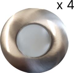 Roestvrijstalen Verlichtingsset Sanimex Njoy 4 LED Spots 8x8 cm IP65 RVS Look