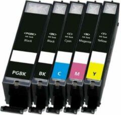 Cyane Inkmaster Cartridges voor Canon PGI-525 XL / CLI-526 XL Multipack van 5 cartridges met CHIP voor Pixma IP4800, IP4850, IP4950, IX6550, MG5150, MG5200, MG5250, MG5300, MG5320, MG5350, MG6150, MG6250, MG8150, MG8250, MG715, MX715, MX884, MX885, MX89