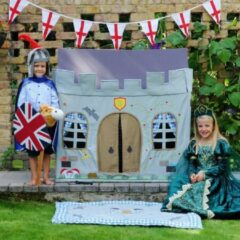 Kiddiewinkles Knight Castle Playhouse (Klein) + Floor Quilt: - Multicolour - 1 Persoons