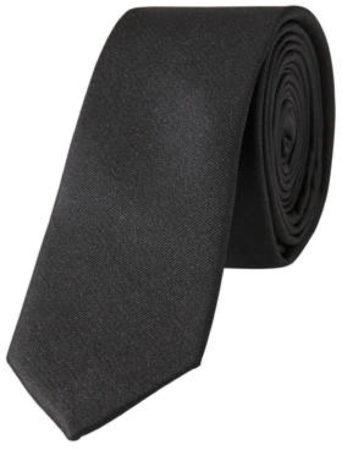 Afbeelding van Zwarte Selected Homme Stropdas van zijde in uni