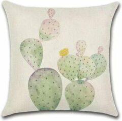 Roze By Javy Cactus - Julia - Kussenhoes - 45x45 cm - Sierkussen - Polyester