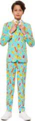Blauwe Trademark OppoSuits Officiële Jongens Pakken van Hoge Kwaliteit - Cool Cones - Kostuum bevat Pantalon, Jasje en Stropdas! Maat 170/176