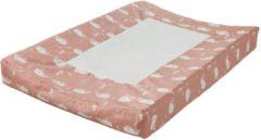 Roze Fresk aankleedkussenhoes Whale mellow rose