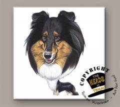 Heads Tegel Hond Schotse Collie