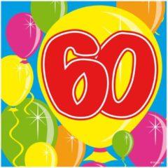 Folat 60 Jaar Servetten Balloons - 20 servetten