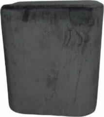 Antraciet-grijze Rox Living Kruk 35 X 38 Cm Fluweel Antraciet