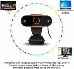 Oranje Safu Webcam voor PC - Microfoon -Webcam - met USB - Full HD 1080P - Camera - Thuiswerken - voor Windows en Mac