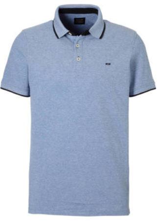 Afbeelding van Lichtblauwe Jack & Jones Poloshirt - Maat S - Mannen - licht blauw
