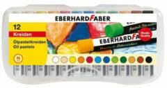 12x oliepastelkrijt Eberhard Faber 11mm