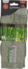 Inter socks Wandelsokken Dames - OUTDOOR- 36/41 - naadloos - 2 PAAR - BAMBOO - beige chaussettes socks