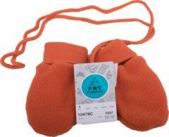 P&T Wanten Baby met Touwtje - Micro Fleece - 0-1j - Donker Oranje